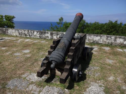 ソレダッド砦にある、大砲です。