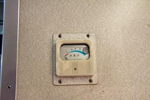 水量計は壊れているようですね。まあタンクに水が入っていれば問題ないですけどね。