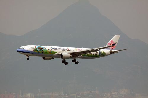 中華航空のスペシャルマーキング機<br /><br />最近、台湾ではこういう塗装をするのが流行っているようです。