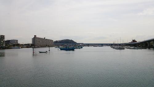 琵琶島から平潟湾の風景