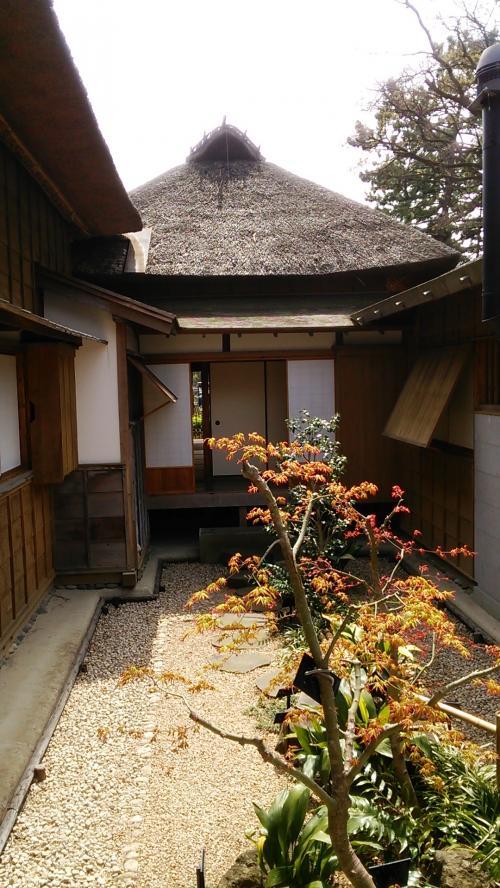 別邸内の中庭