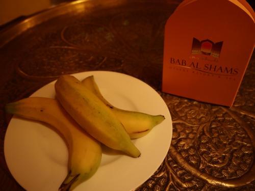 バナナとデーツが置いてくれていました。<br />このデーツもとっても美味しかったです。