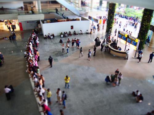 昨年のAPEC開催に合わせて完成したデンパサール(バリ)のングラライ空港。 <br />