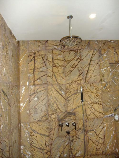 シャワー。レインシャワー以外にも可動式シャワーで使いやすいです。