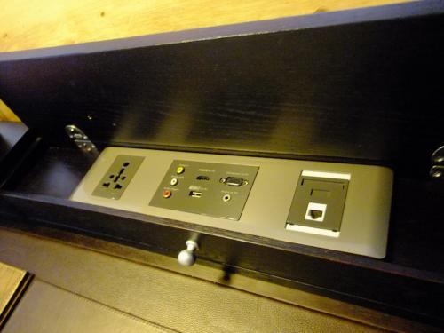 プラグ以外に室内にはUSBケーブル、AVコネクターもあります。