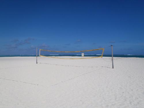 白い砂が眩しい!