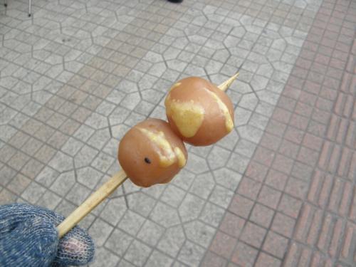 米沢<br /><br />まつりの時に駅前で無料で配っていた玉こんにゃく