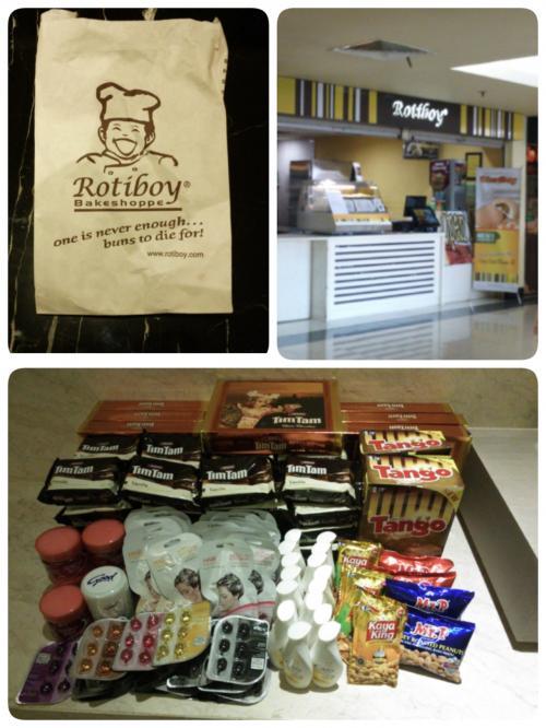 カルフールにてお土産を購入(*^▽^*)<br /><br />バリで有名な『Roty Boy』でコーヒー味のメロンパンもどきにバタークリームが入っているパンを購入♪<br /><br />旨し(*^.^*)<br /><br />昔は帰りの空港で購入可能だった様ですが新空港には無いらしく…少し旧ターミナルまで歩けばあるそうですが新空港から帰るのは初めて…迷ってはまずいので断念↓<br />