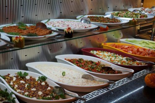 さまざまなトルコ料理が並びます。