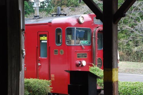 大畑駅に停車している列車<br /><br />情緒がありますね!