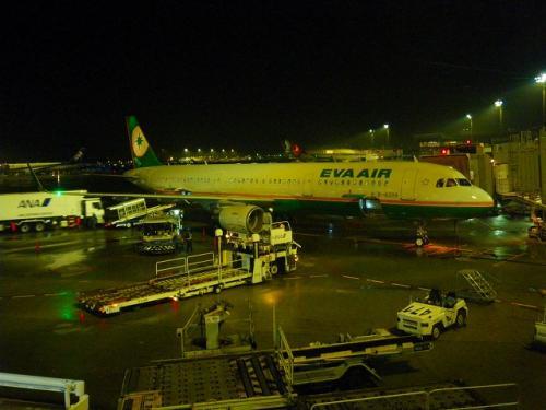 ゲートを間違えたのかと一瞬不安になりましたが、ぼちぼち飛行機も客もやってきました。<br />これが今回の機体です、前回と同じ様な機体ですが・・・