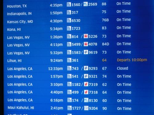 UA814便でいよいよラスベガス出発