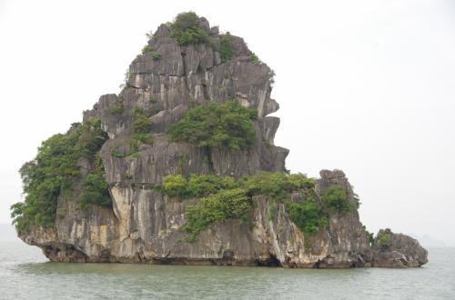 闘鶏岩の反対側には、ゴリラ岩