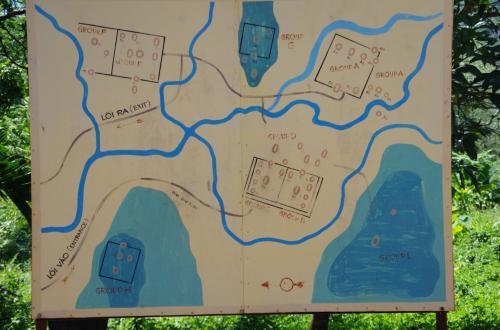ミーソン遺跡の地図<br />入口のところにありました。地図にある通り、主要な遺跡だけなら順路は単純なので、見逃す心配は少ないです。<br /><br />この周辺には、まだまだ見つかっていない遺跡もたくさんありそうで、これからが楽しみです。