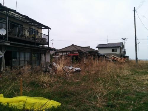 人家も津波にやられています。