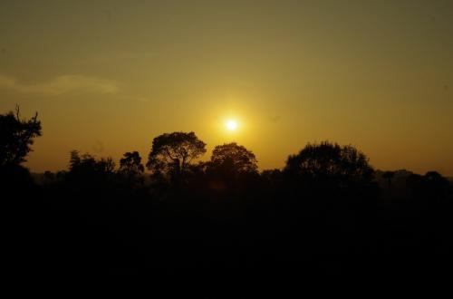 陽はどんどん沈み、空の色も変化して行きます