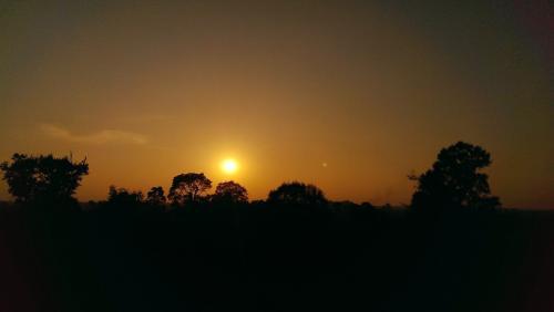 最高の夕陽でした。