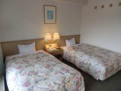 窓側の綺麗なベッド(写真)の枕元にBGMが3種類あり、その中の1つから癒し系のピアノ曲が流れる。<br />