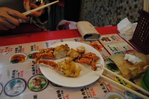蟹のフライ??美味しかった。