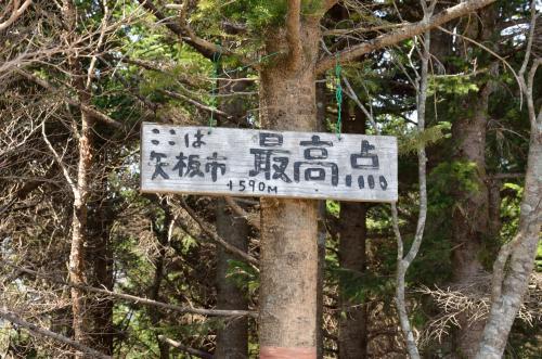 30分ほど登って矢板市最高地点に到着。眺望は利かない。