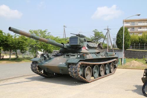 74式戦車が今回も来ていました。