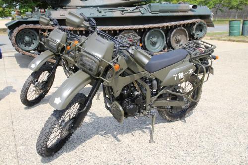 カワサキの250ccオフロードバイク、