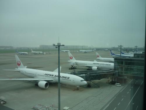 窓かみえる景色はこんな感じ。<br />結構皆さん飛行機の写真を撮られていたので、私も遠慮なく。