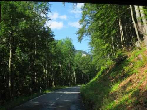 そうして、見る見るうちにバスはつづら折りの坂を登っていきます。右見たり左見たり、いそがしい、いそがしい(笑)。<br /><br />大揺れでうまく撮影できなかったのですが、リンタールの村を眼下に登っていく、峠への車窓は素晴らしかったです!