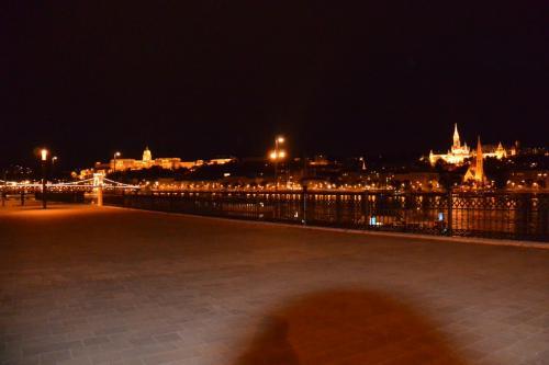 そして、国会議事堂の脇に流れるドナウ川。<br />左手奥に、くさり橋と王宮<br />右手奥に、マーチャーシュ教会<br /><br />息を飲む美しさです。