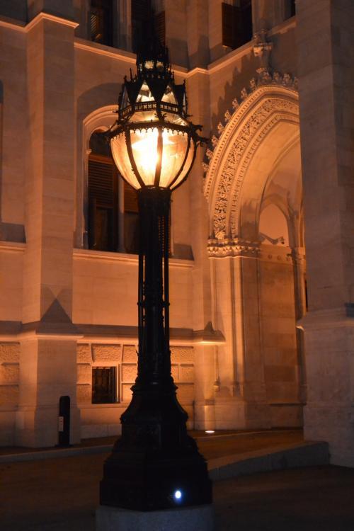 何気なく灯っている電灯も、<br />細かい細工が施されており、<br />この幻想的な景色を作り出しています。
