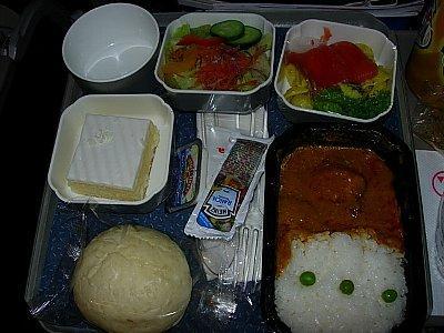 成田→デトロイトの機内食