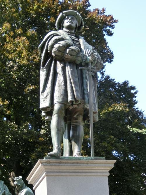 ヘッセン方伯フィリップ寛大公。<br />ヘッセン伯領の宗派をプロテスタントに改宗。シュマルカルデン同盟主導者としてカール5世に対抗。1504〜1567年。<br />当時領民の信奉すべき宗教は領主が決めました。