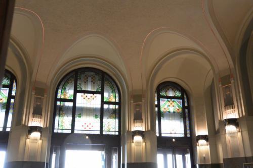 玄関ホール。<br /><br />細いピンクのラインがとってもかわいいんです。