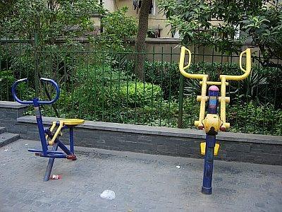 公園にある健康器具