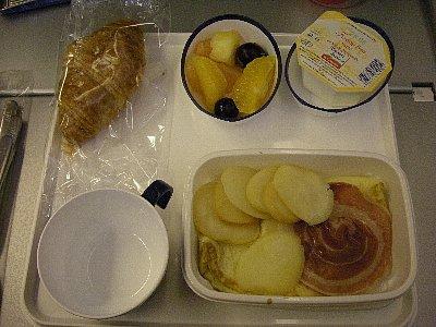 軽食、プレーンオムレツ&ハム