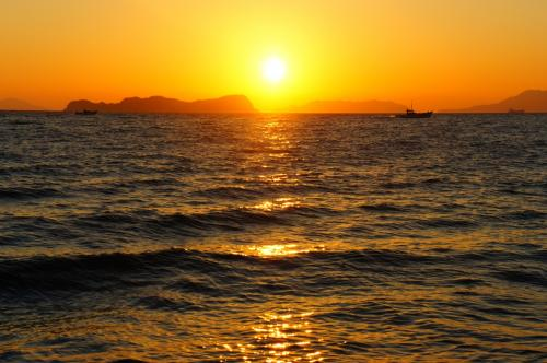 美しい瀬戸内の夜明け!