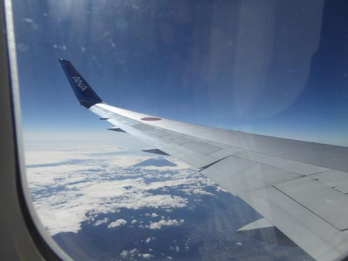 成田から大連に向けて出発です。<br />飛行機からの富士山の眺めがいいので、いつも左窓側の席を選んでしまいます。