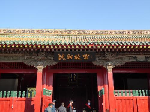 瀋陽路沿いに門が3か所ありますが、入れるのは、この大清門だけのようです。