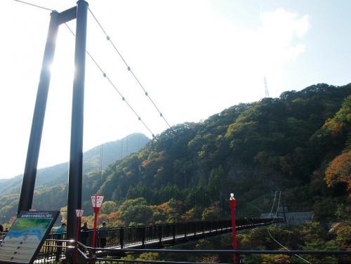 『鬼怒川舘岩大吊橋』<br /><br /> 龍王峡から少しだけ少し戻って見ました
