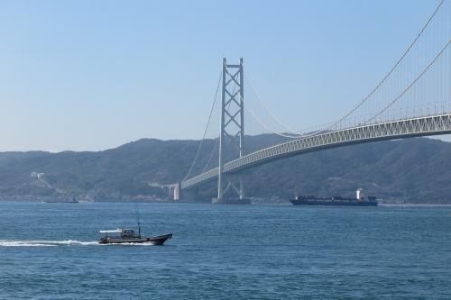 船が行き交う景色もきれい...<br />