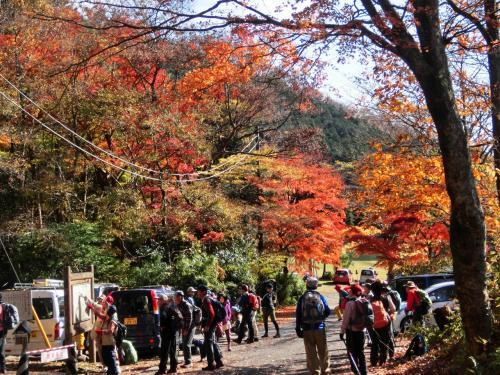 トイレも済んだし準備運動もOK、10:45出発!<br /><br />箱根外輪山の最高峰が金時山です。<br />金時山の北側一帯は総称して足柄山と呼ばれています。