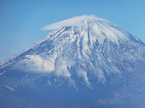 富士山をアップで