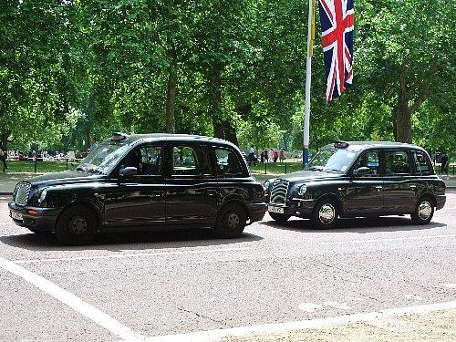 昔ながらのタクシー