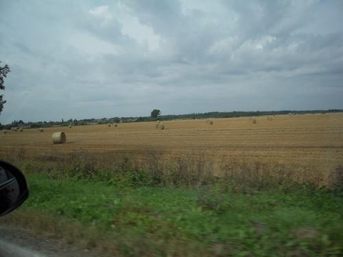 リトアニアに入ると、さらに田舎風景が広がる道となって、ちょっと気持ちがよかった。