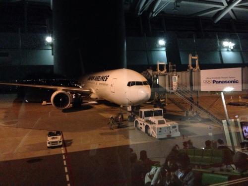 まもなく機内へ。<br />この飛行機(JAL792便)で一路ホノルルへ!