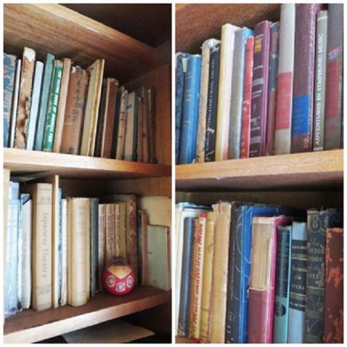 カンニングハム女史の蔵書の一部が公開されていて、音楽関係はもとより日本の美術等の本も多い。
