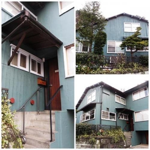旧カニングハム邸は港区南青山にあり、すぐ隣が根津美術館である。ここにこのような昭和初期の建築物があるとはとても思えないほどである。<br /><br />総2階建ての木造建築であるが、音楽事務所の方の説明によると、一部増築したようである。