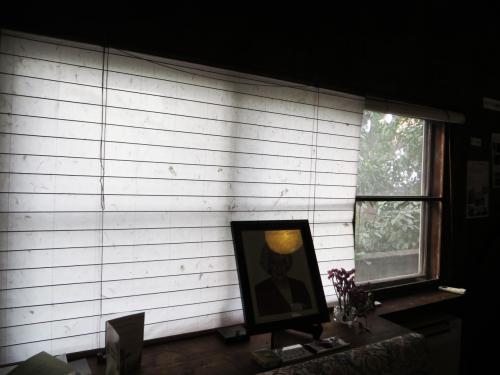 隣接する根津美術館の庭園の緑を借景として取り入れ、障子とガラス戸を開けると、外と内が一体となる開放感のある家となっている。