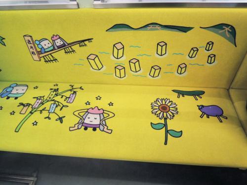 シートには、いろいろ楽しい絵が描かれている。