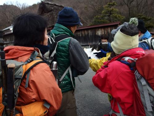 1月の恋姫山の女性リーダーから、コースの説明があった。
